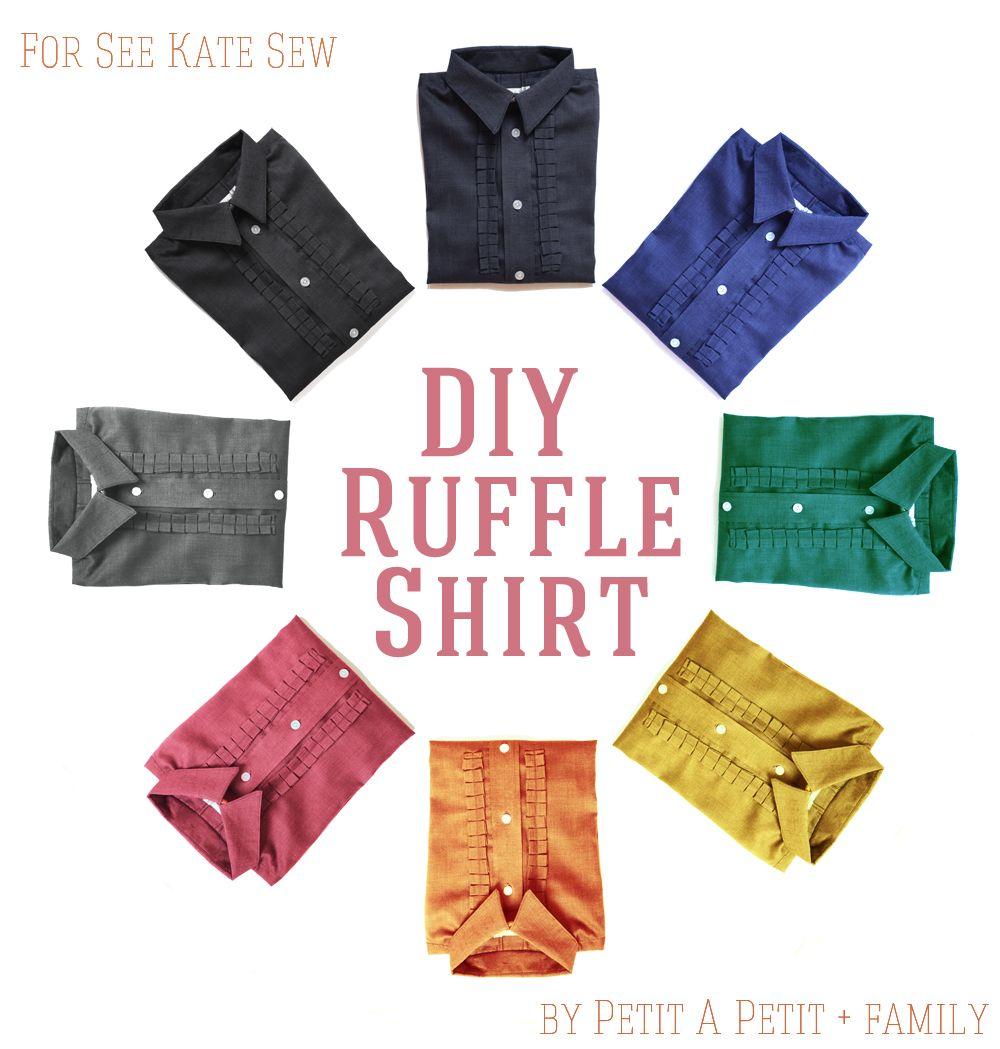 DIY ruffle shirt tutorial for BOYS | La colmena, Costura patrón y ...