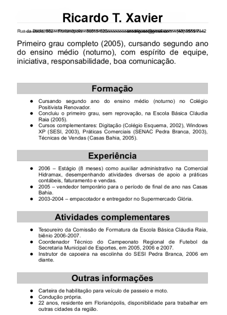 Curriculum Vitae Pronto Curriculo Prontos Modelos De Curriculo