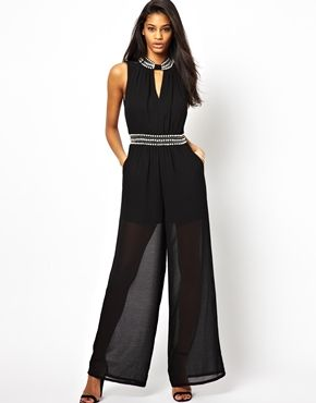 c6f70c82b2a6 TFNC+Jumpsuit+With+Embellished+Neck+and+Waist+Detail | ENTERIZOS ...