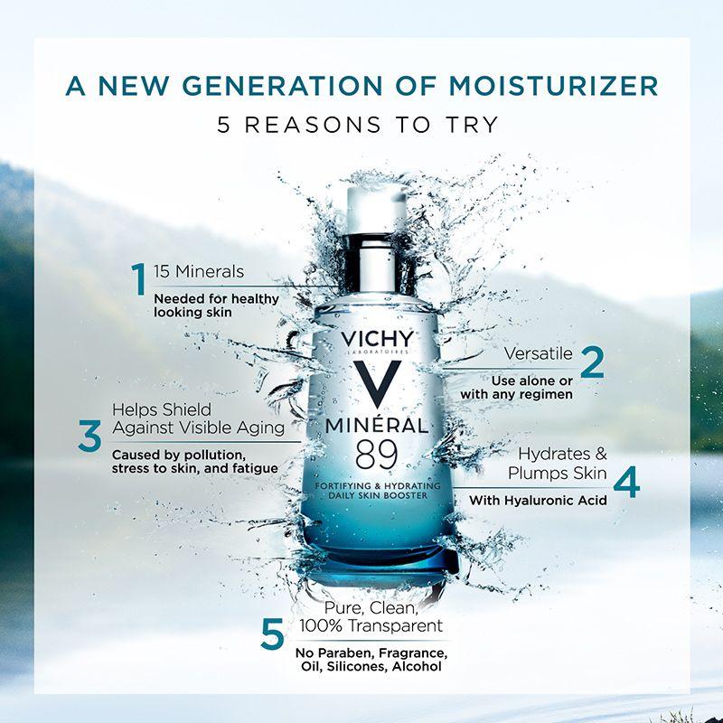 Vichy Mineral 89 Daily Skin Booster Serum And Moisturizer Dermstore Skin Essence Moisturizer Vichy