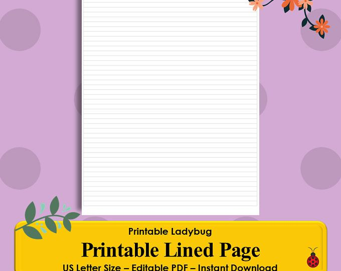 Printable Lined Page, Lines, Lined Paper Template Organizational - lined paper template