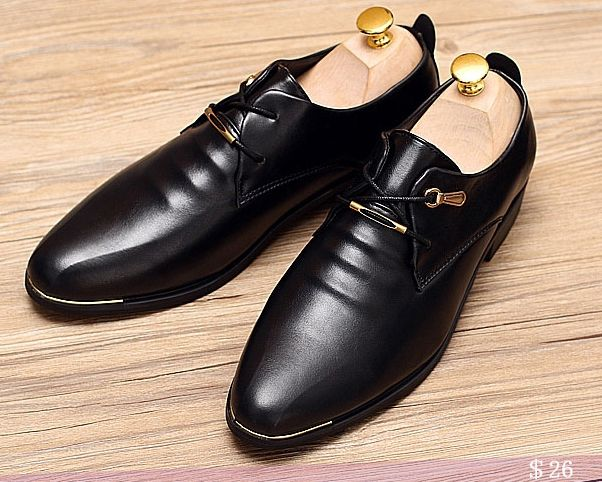 US  26 Luxury Brand Genuine Leather Men Shoes High Quality Lace-Up Business  Derby Shoes Men Wedding Shoes Men Dress Calcado Masculino bfb462cb4848