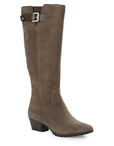 21d701ffecd Bandolino Tadao Suede Knee High Boots Women's Dark Taupe 8.5M ...