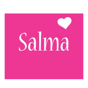 Salma Love Heart Logo In 2019 Name Logo Heart Logo Love