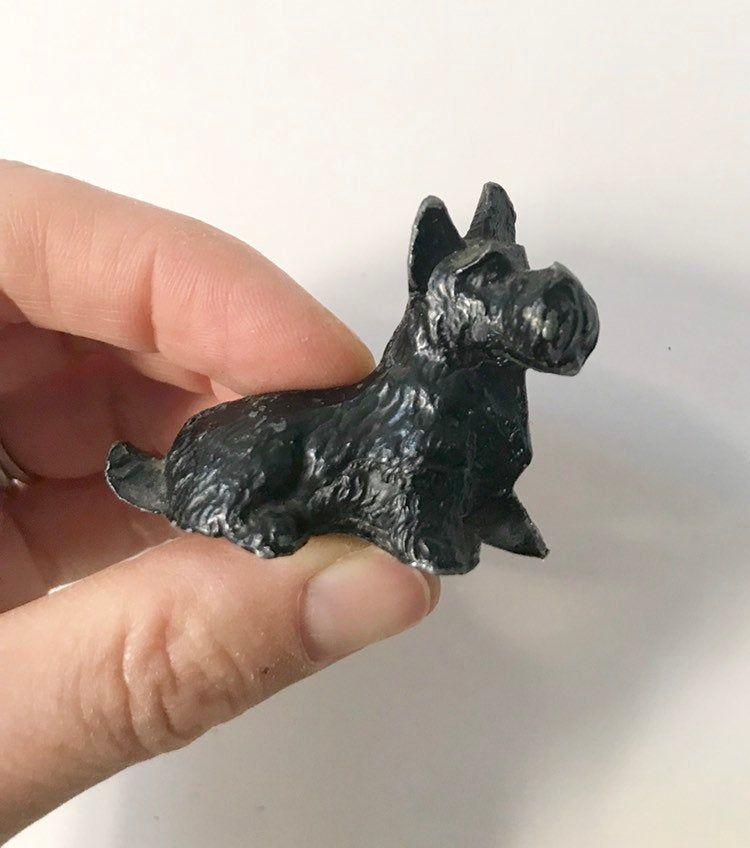 Tiny Cast Iron Scottie Dog Figurine Etsy Dog Figurines Scottie Dog Scottie