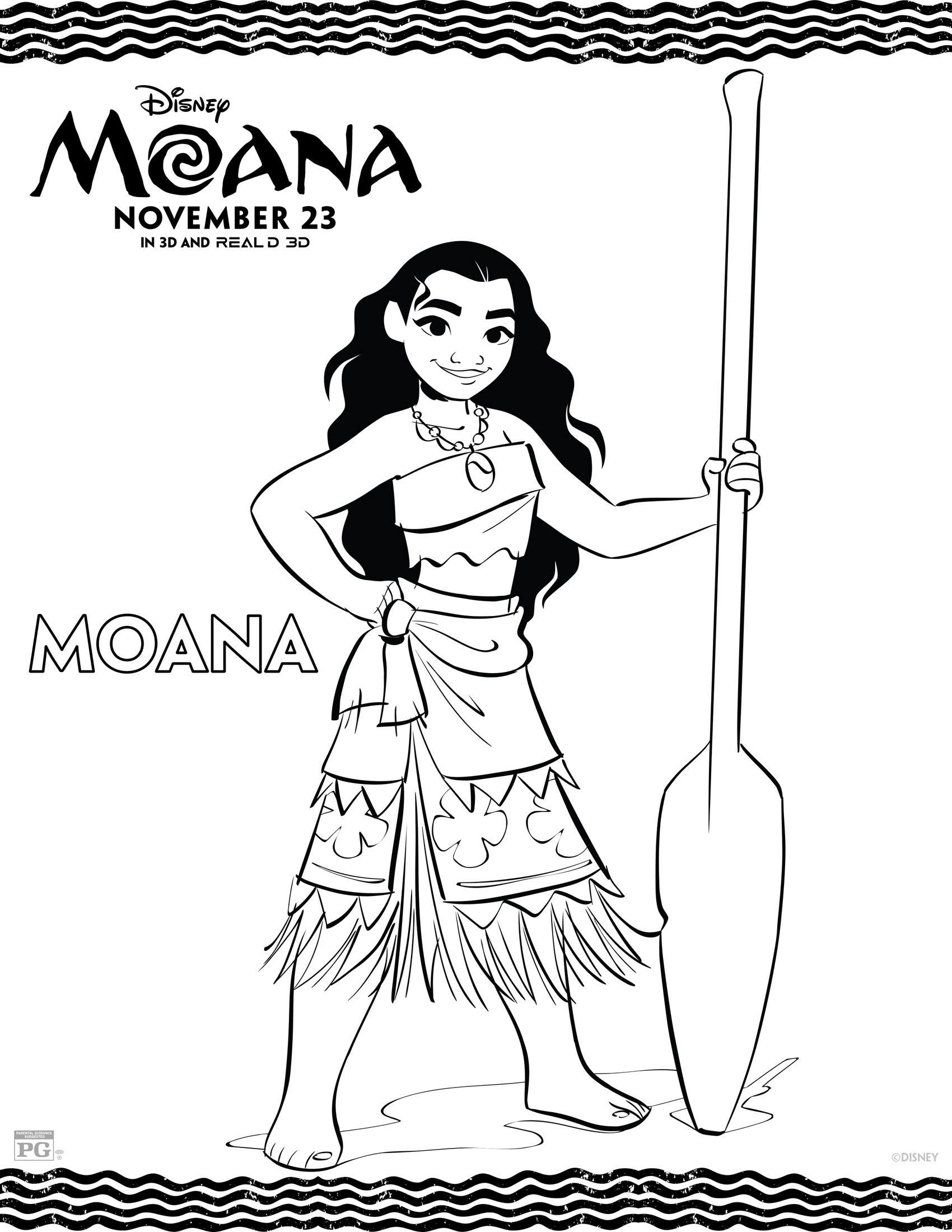 Disneys MOANA Movie Review And FREE Printable Coloring Pages