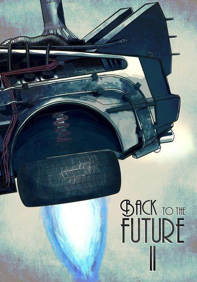 Back To The Future Ii Art Print Retour Vers Le Futur Affiche De