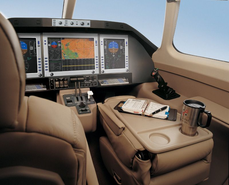 Cockpit of the Eclipse 500 with IA Grips   Aircraft   Plane