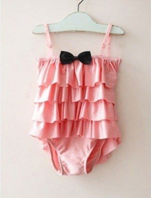 Emma Pink Bow-tie Swimsuit