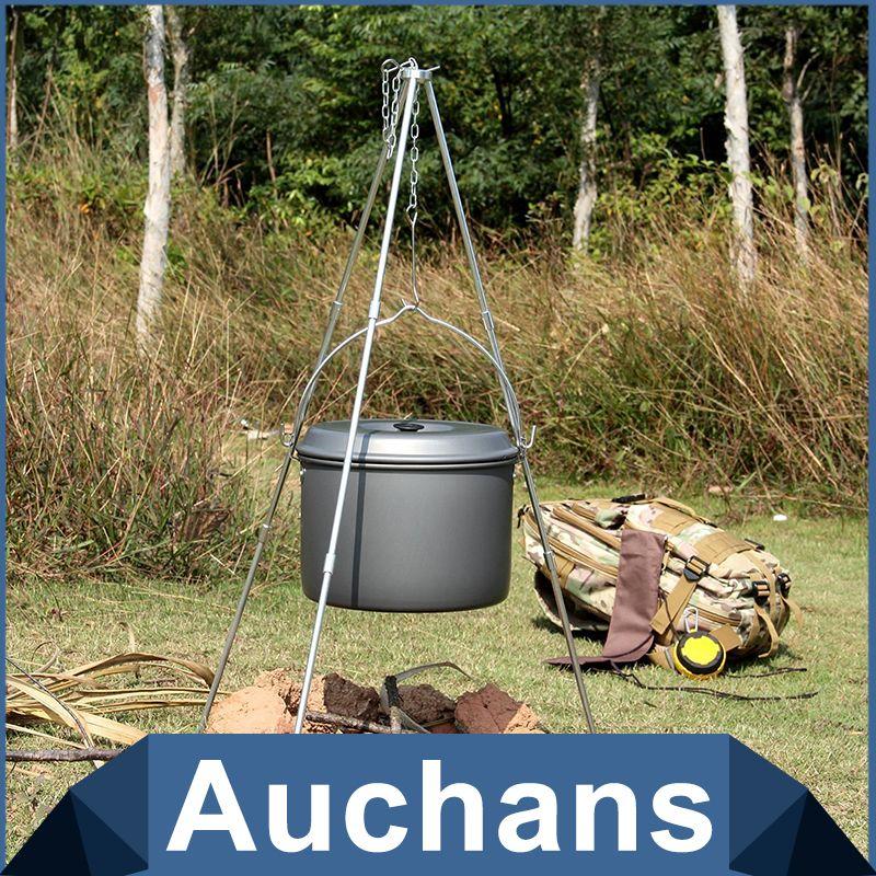 Outdoor Hanging Aluminum alloy Pot Cooking Camping Bonfire Party Picnic Top UK