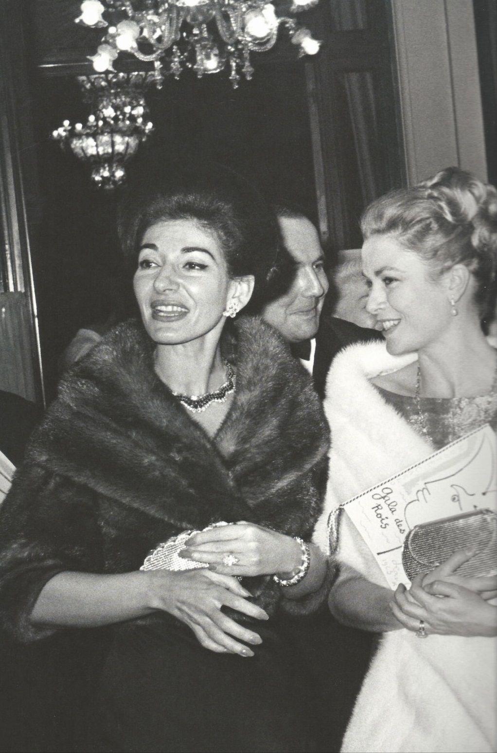 Maria Callas Monaco 1963 Maria Callas Princess Grace Kelly Sofia Loren