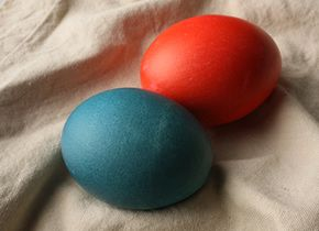 Dyed easter eggs recipe easter egg dye egg dye and easter apparently you can use food color just like the dye kits you buy forumfinder Image collections