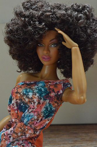 Thirsty Roots Black Barbie Dolls Feature Natural Hair Doll Natural Hair Styles Black Barbie