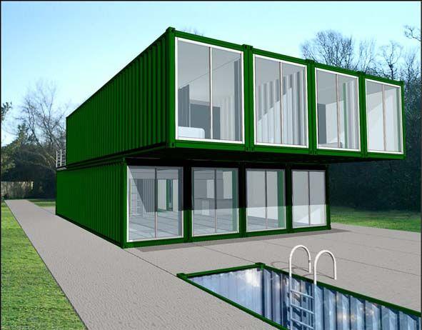 Casa prefabricada modelo luke container vans pinterest - Container casa precio ...