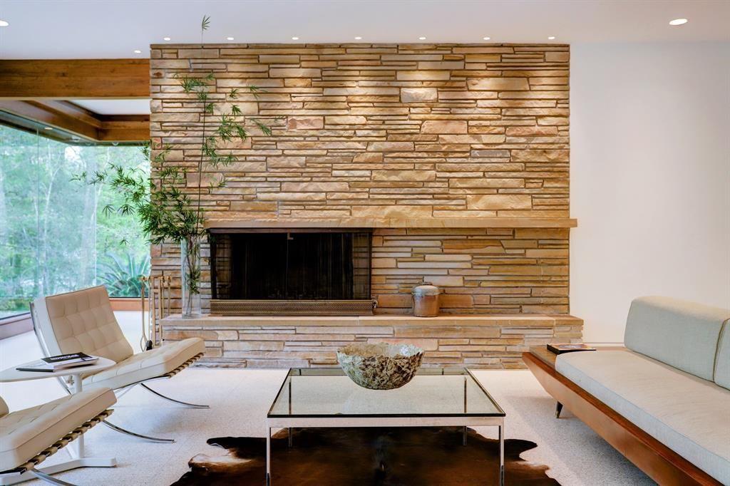 30 Patti Lynn Lane Houston Tx 77024 Photo Original Mid Century Modern Fireplace Locate Mid Century Modern House Modern Fireplace Midcentury Modern Fireplace