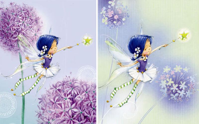 Открытки, маленькие открытки от феи