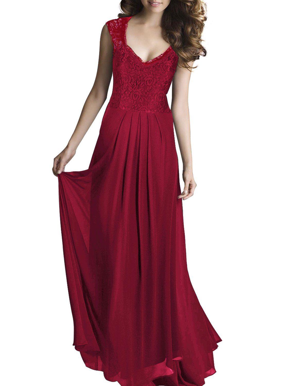 06166529cf80 Amazon.com: Miusol® Women's Casual Deep- V Neck Sleeveless Vintage Maxi  Black Dress: Clothing