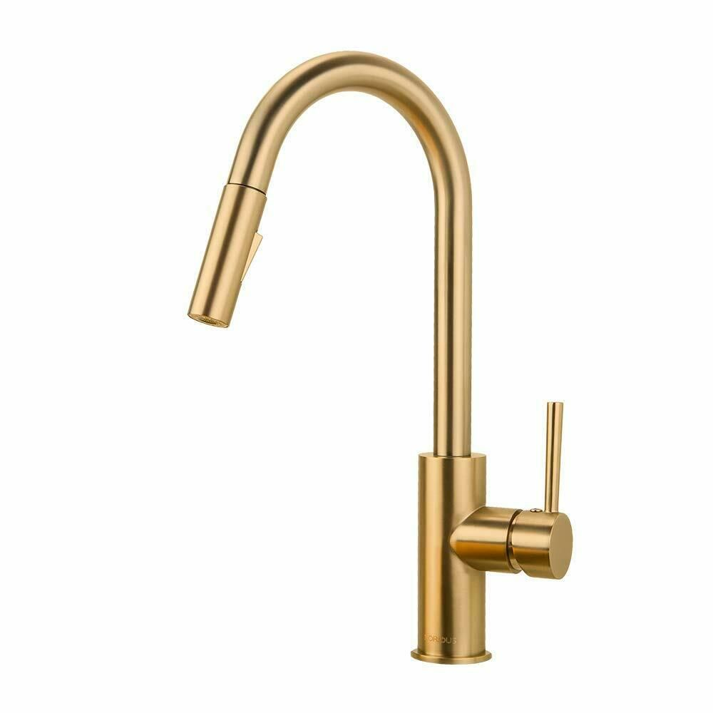 Gold Kitchen Faucet Pull Down Sprayer Single Hole 3 Hole Deck Mount Mixer Tap Kitchen Faucets With Images Gold Kitchen Faucet Kitchen Faucets Pull Down Kitchen Faucet