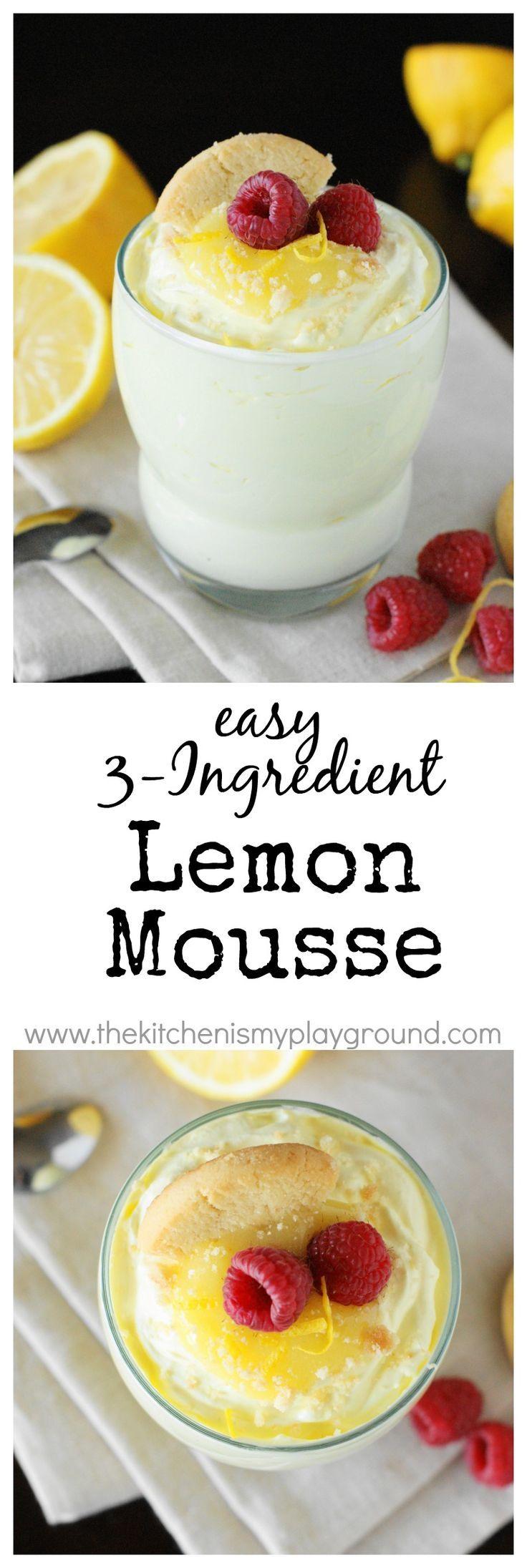 Easy 3ingredient lemon mousse creamy comfort easy as