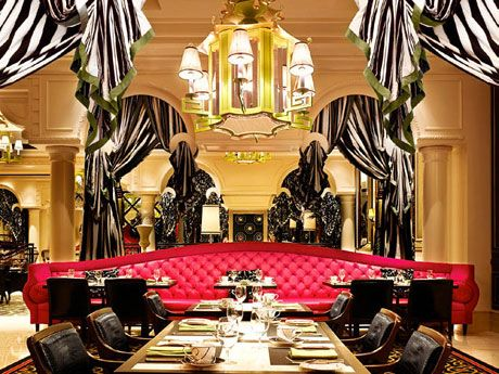 I Love The Black And White Decor At Society Cafe Encore In Las Vegas Food Is Amazing Too
