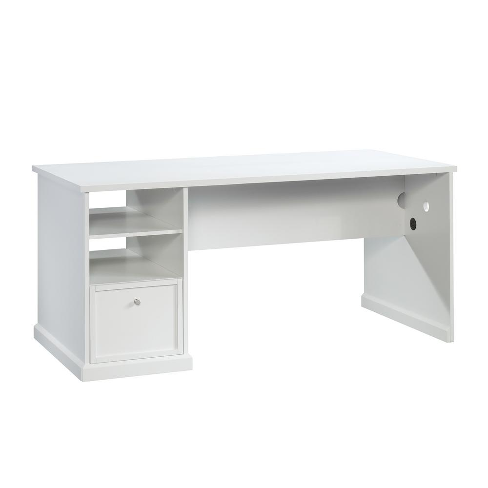Homevisions White Craft Desk 425032 The Home Depot In 2021 Craft Table Craft Desk Craft Storage