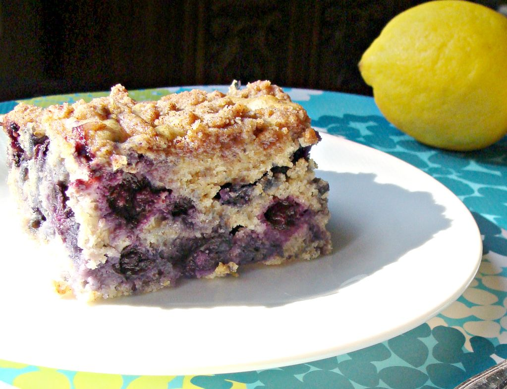 blueberry almond lemon coffee cake