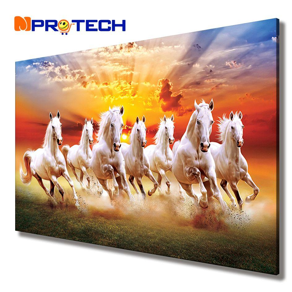 Running Horses Painting 5 Pcs Canvas Print Horse Poster Wall Art Gift Home Decor