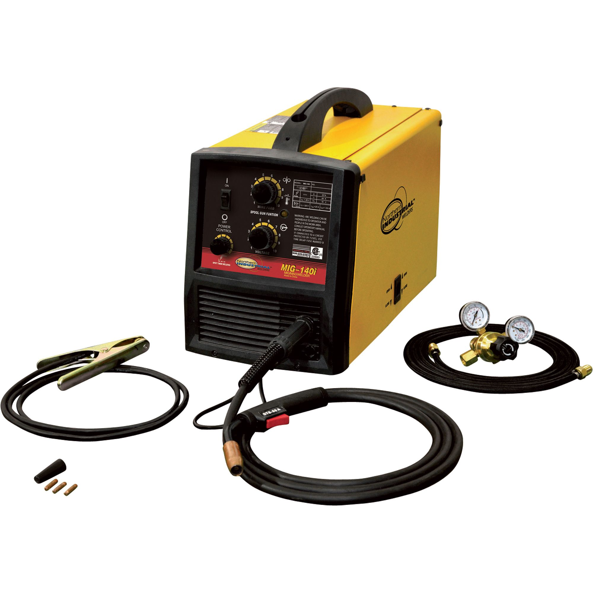 Northern Industrial Welders Mig 140i Wire Feed Welder Ss And Cord Takeup Reel For Electric Powered Lawn On Wiring A Extension Alum