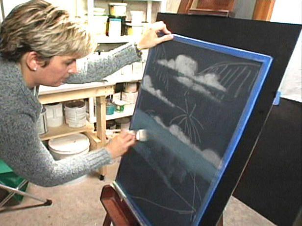 How To Paint A Fiberglass Window Screen Painted Window Screens Window Painting Window Crafts