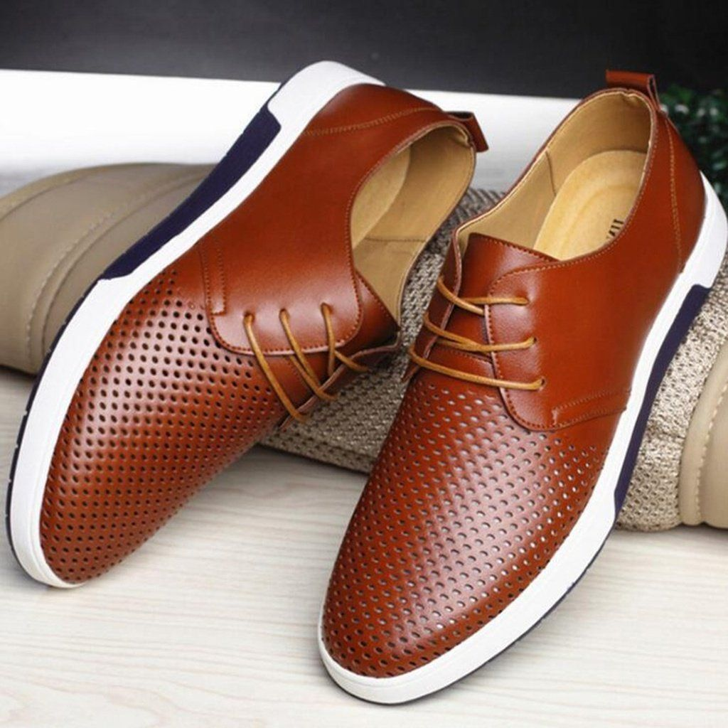 Men's Casual Shoes | Casual leather shoes, Leather shoe