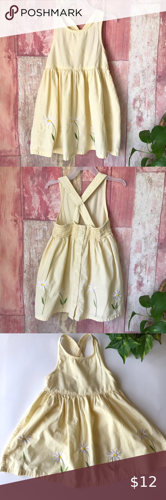 Baby Gap Yellow Summer Dress Size 30 36 Months Best Fit 3t Great Preowned Condition Overall Crisscross St Yellow Dress Summer Summer Dresses Kids Dresses [ 1740 x 580 Pixel ]