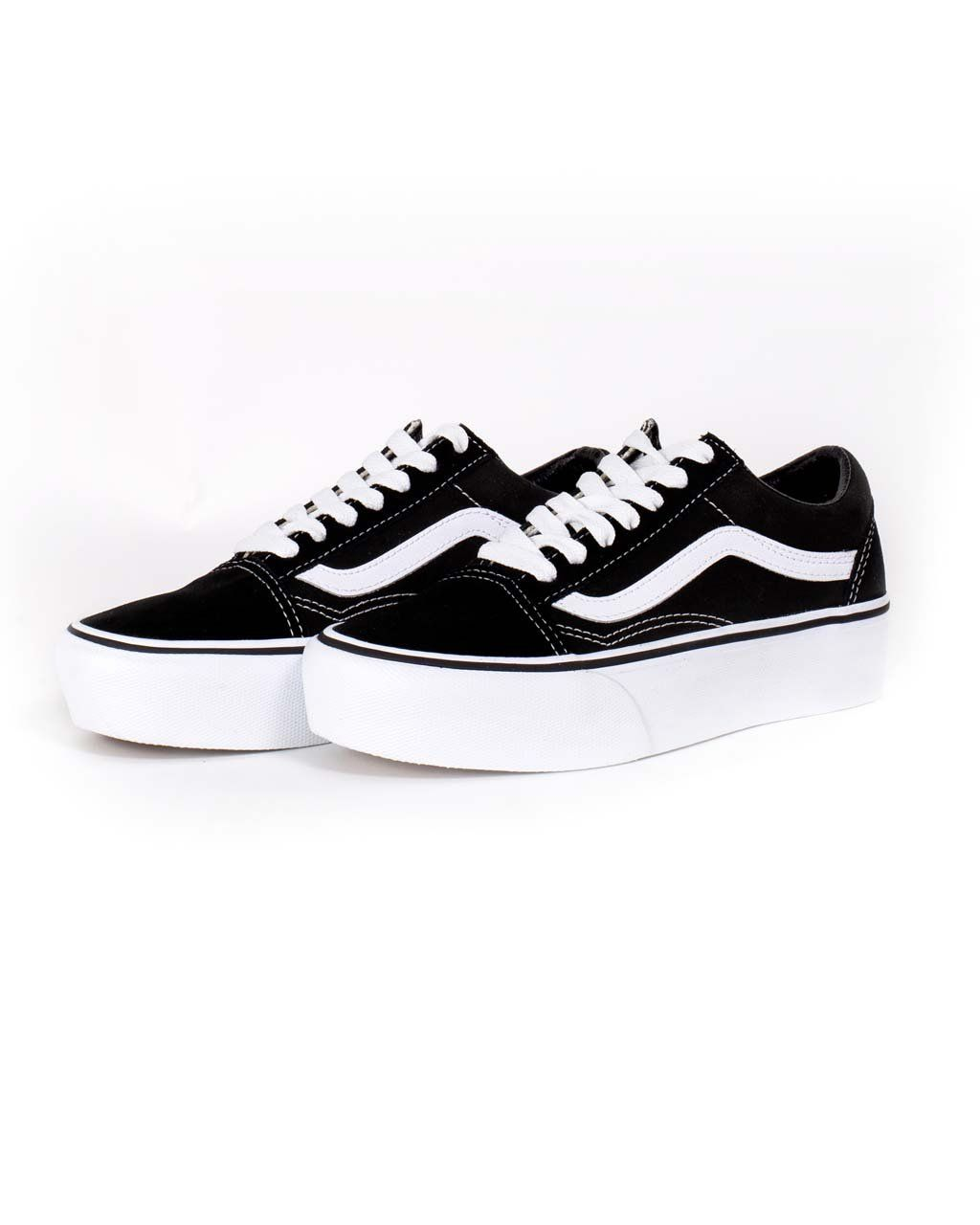 7787dc6913e old skool platform - black by vans - shoes - ban.do