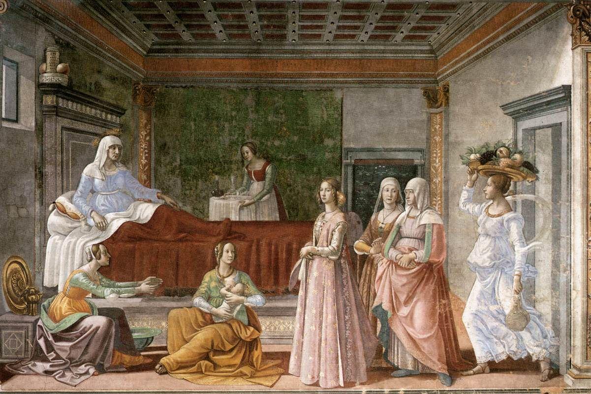 Birth of St John the Baptist - Domenico Ghirlandaio — Wikipédia