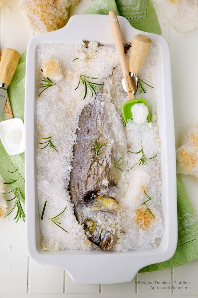 Salt-Crusted Baked Whole Fish