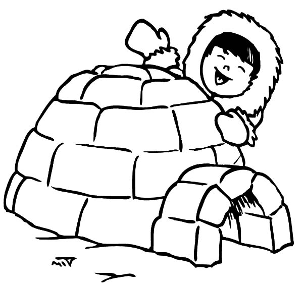 Pin On Igloo Coloring Pages