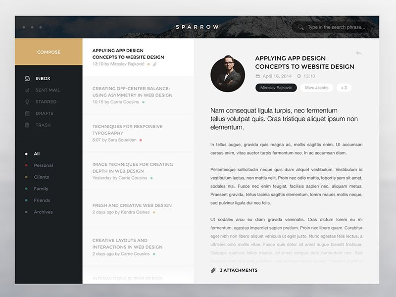 Flat Sparrow Web Design Inspiration Web App Design Website Design