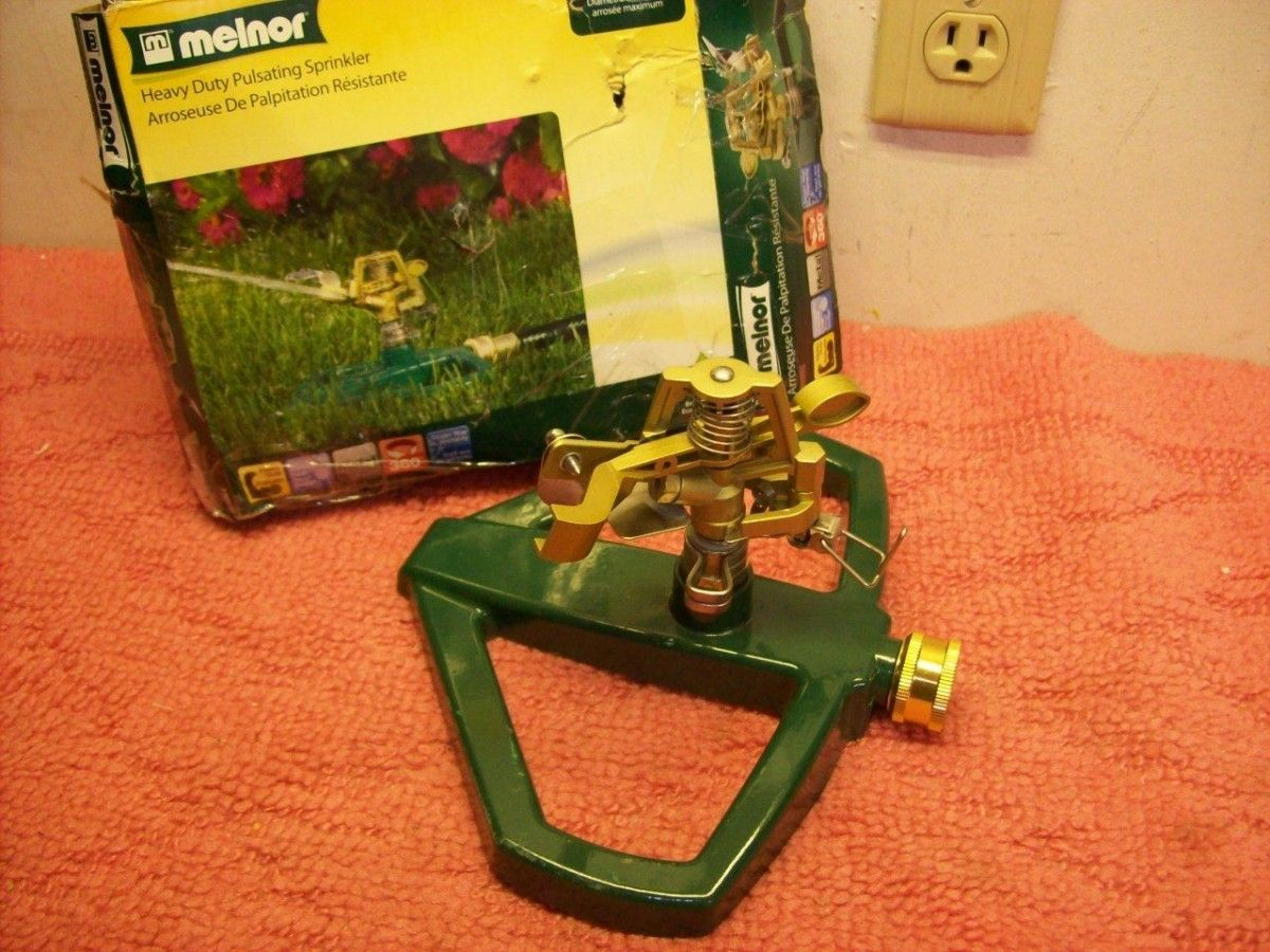 Melnor Pulsating Sprinkler Head Water Hose Irrigation Lawn