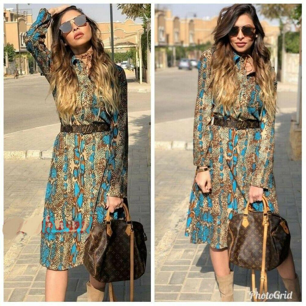 80eb8128fb1 NWT ZARA SNAKE SKIN PRINT Long Shirt DRESS Size L REF.1971/815 #ZARA # ShirtDress #Casual