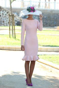 Vestido boda rosa palo