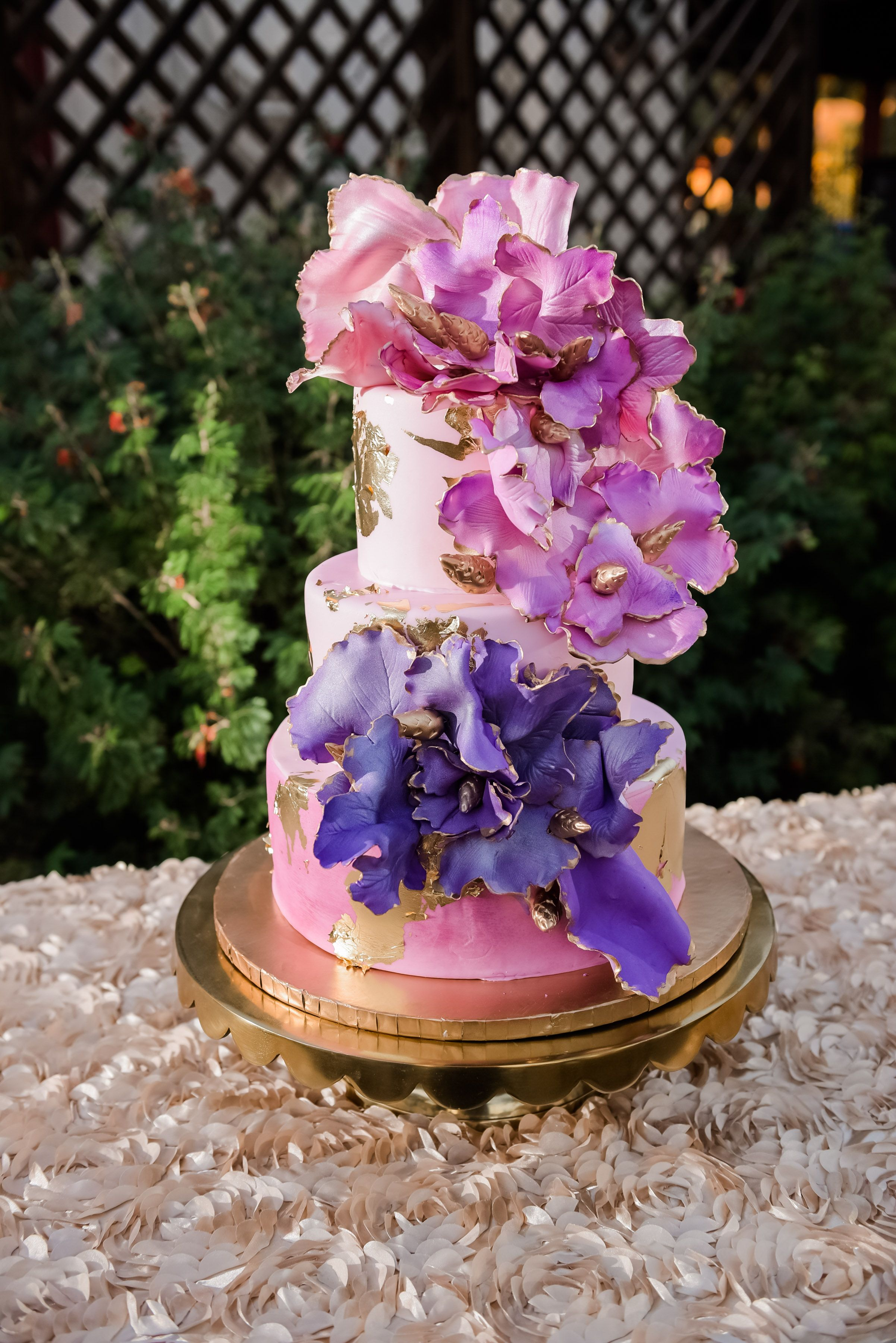 This cake was designed by the fabulous Pauline Jacqueline Bakery located in Scottsdale Arizona