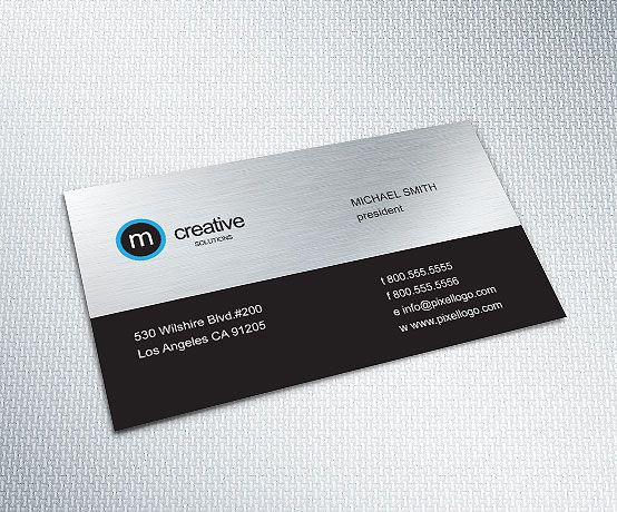 Business card 074 business cards business and adobe illustrator a black and chrome business card design businesscard design 1499 colourmoves