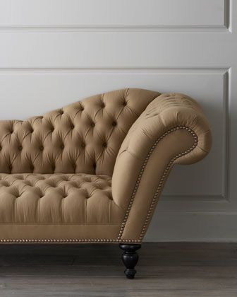 """""""Oswald"""" Recamier by Old Hickory Tannery at Neiman Marcus."""