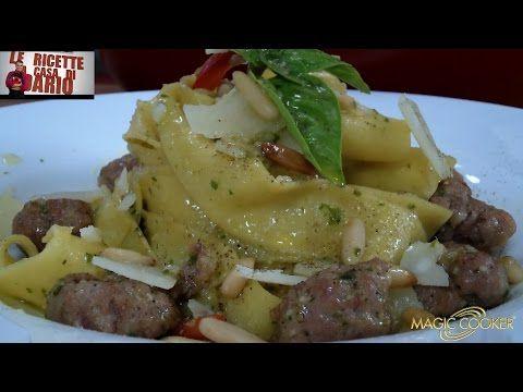 Le Pappardelle Salsiccia basilico e pinoli preparate da Dario con Magic Cooker 286 - YouTube