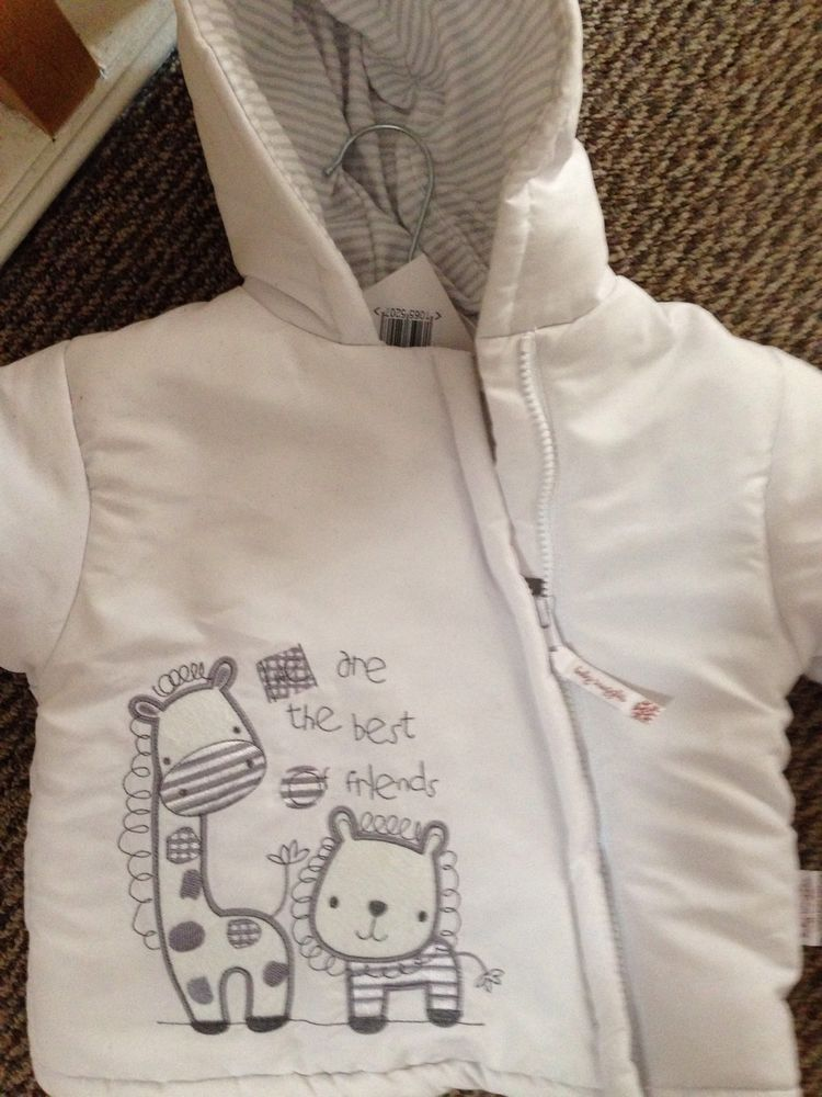 Baby White Winter Coat With Gloves in Baby, Clothes, Shoes & Accessories, Girls' Clothing (0-24 Months) | eBay