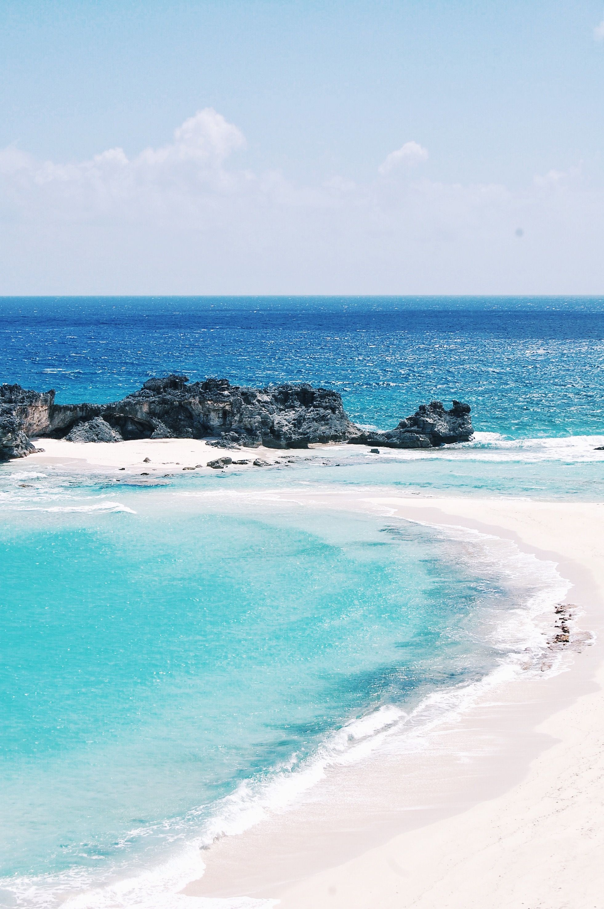 Mudjin Harbour is a secret stretch of beach, sweeping out to Dragon Cay, on Middle Caicos Island in the Turks & Caicos.
