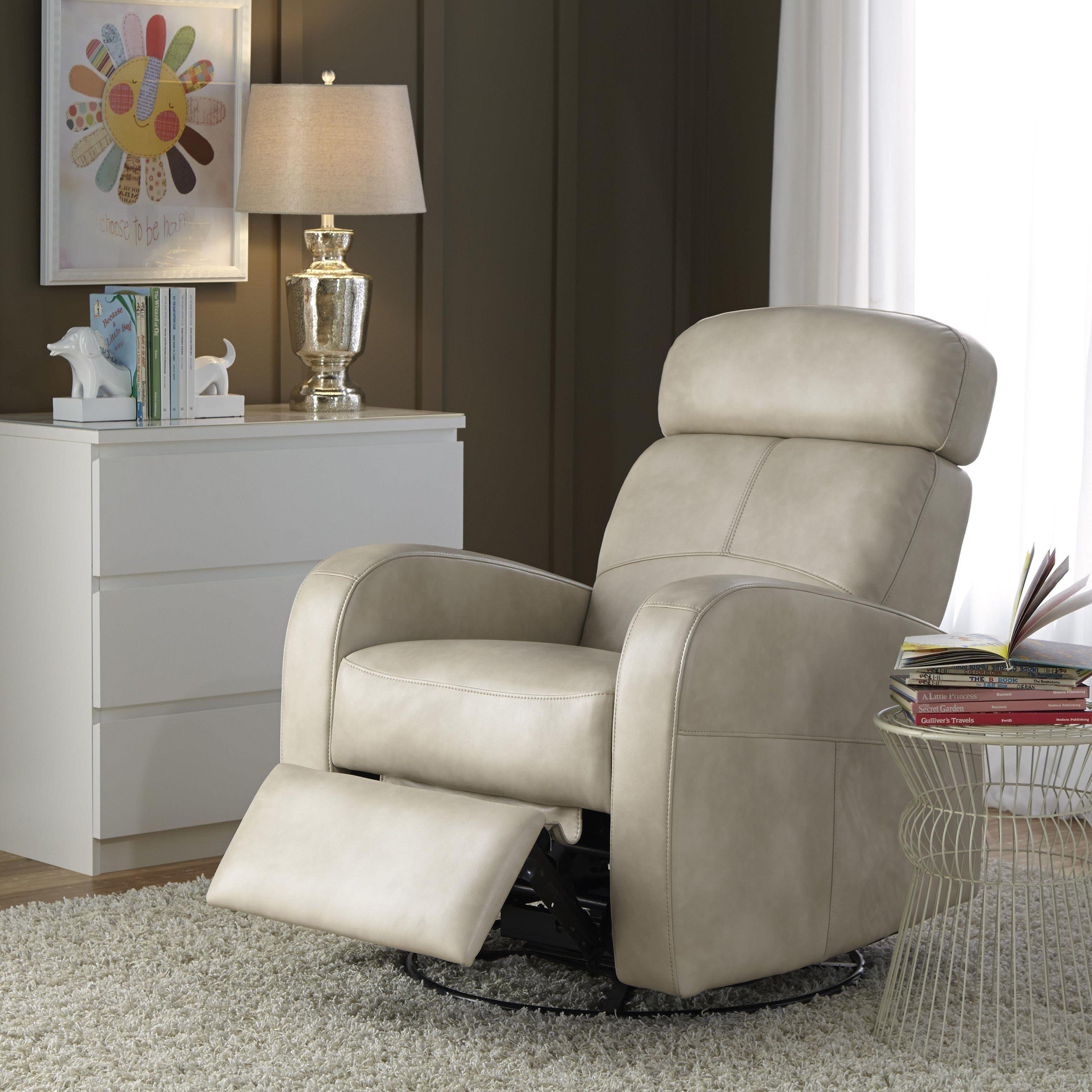 Isla Cream (Ivory) Nursery Swivel Glider Recliner Chair (Faux Leather)
