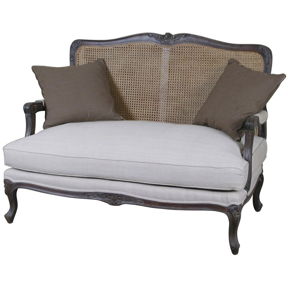 Louis French 2 Seater Sofa with Rattan Back; £589 | Plans ...