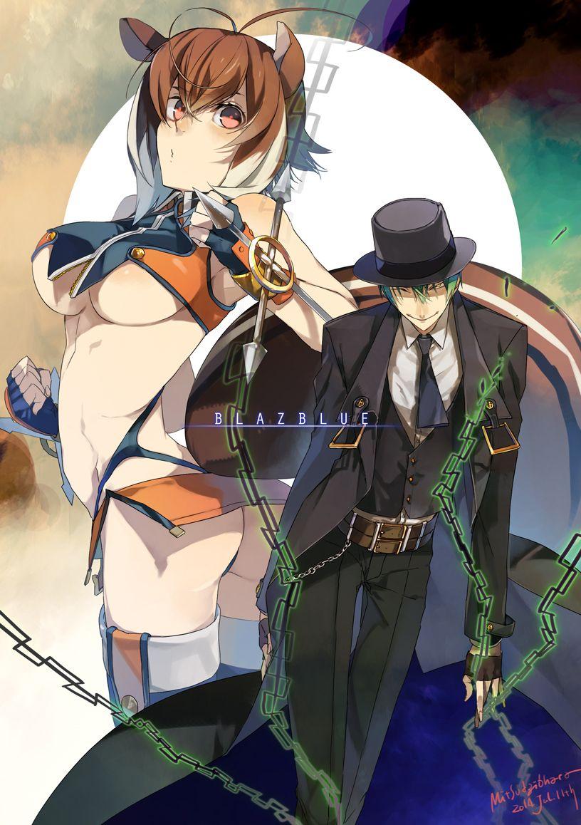 Makoto Nanaya & Hazama, BlazBlue   Blazblue   Anime art