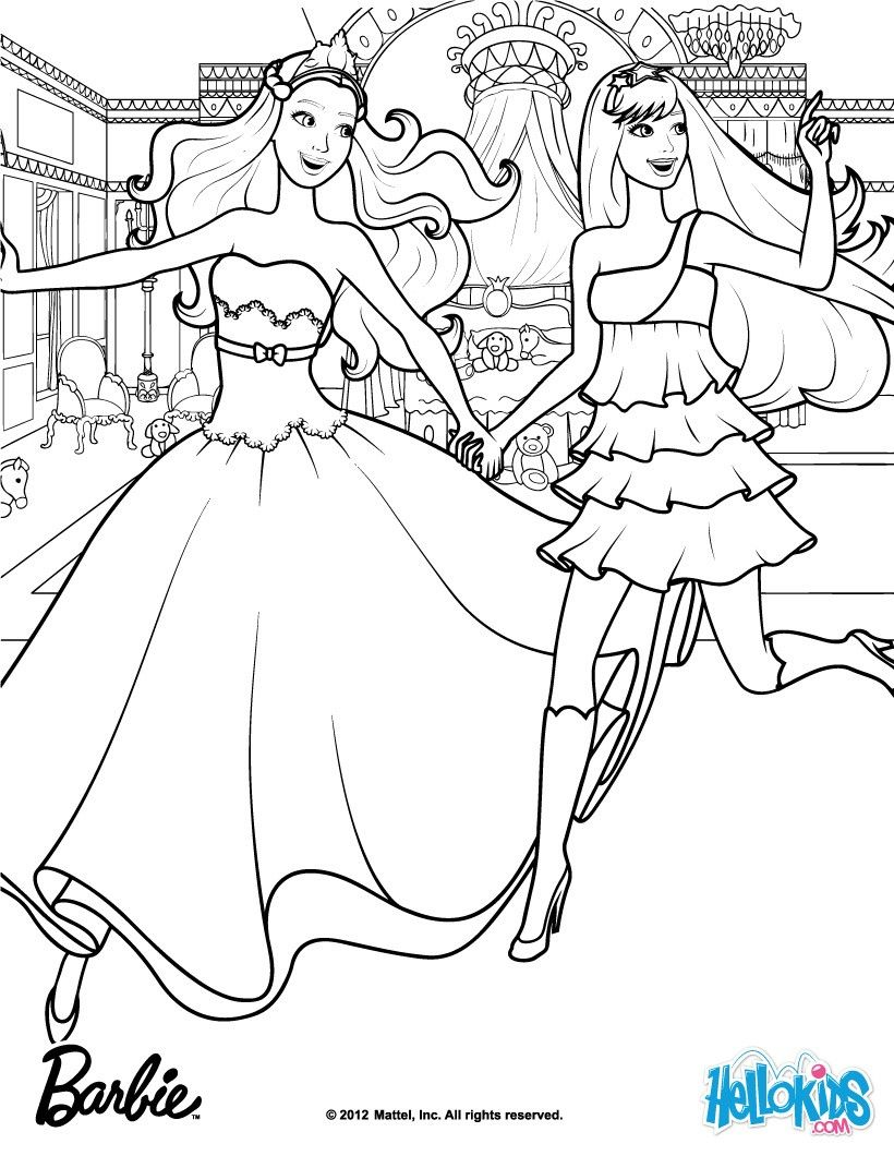 Keira & Tori when they first met, Barbie coloring page. More Barbie ...