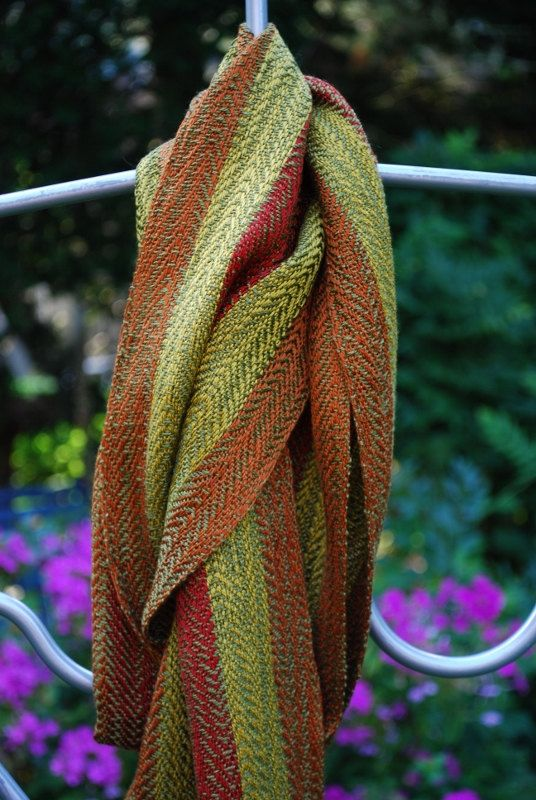 Handwoven Tencel scarf by JenniferFiberDesign on Etsy, $125.00